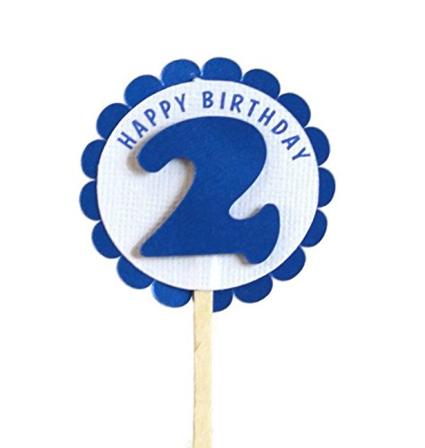 d Birthday Shimmer Blue Cupcake Toppers, Set of 12 ()