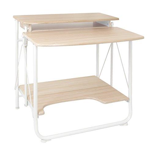 Calico Designs 51236.0 Stow Away Folding Desk, White/Maple