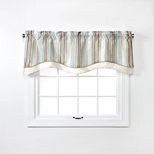 Renaissance Home Fashion Maxton Layered Scalloped Valance with Cording, 52