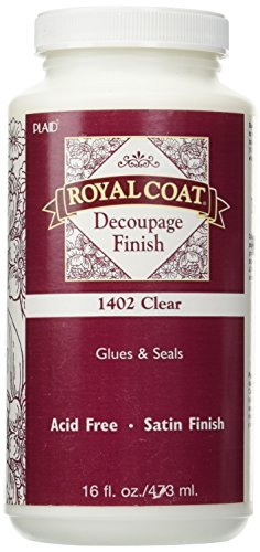 Plaid Royal Coat Decoupage (16-Ounce), 1402 Clear Satin - Coat Finish