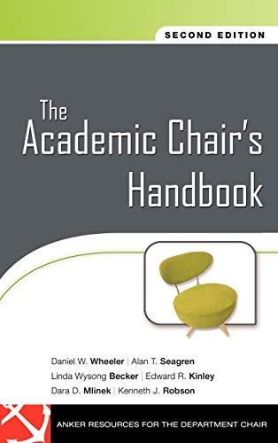 The Academic Chair's Handbook