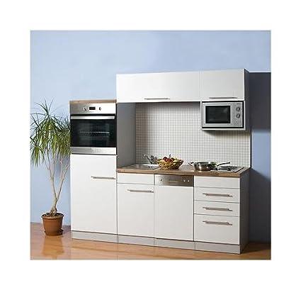 Mebasa MCCK100BW Cucina componibile, 200 cm, con elettrodomestici a ...