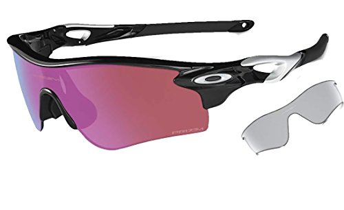 Oakley Men's Radar Shield Sunglasses (Black Frame Polarized Golf Prizm Lens, Black Frame Polarized Golf Prizm - Golf For Sunglasses Oakley