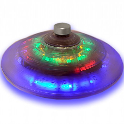 Funtime Gifts Playmaker Toys Products Assorted Infinite Spinning Top Light Up Unidentified Flying Object