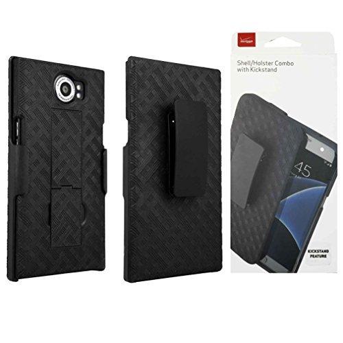 Verizon OEM Shell Holster Stand Combo Case for BlackBerry PRIV - Black - Retail Package (Combo Blackberry)