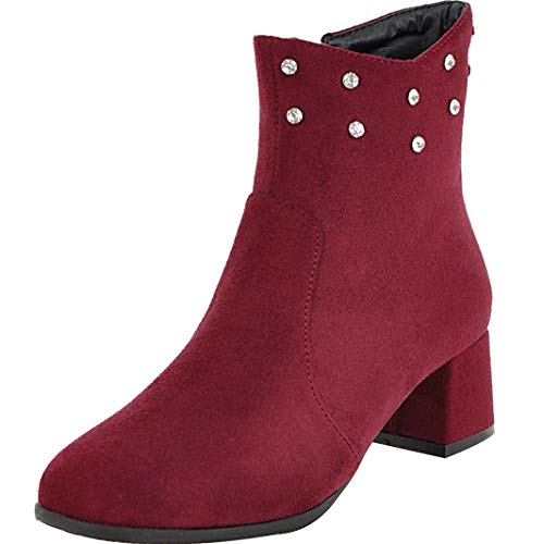Mavirs Womens Maente Block Heel Ankle-high 4.5 Shoes cm Boots B07GLYBFPH Shoes 4.5 c0f4a9