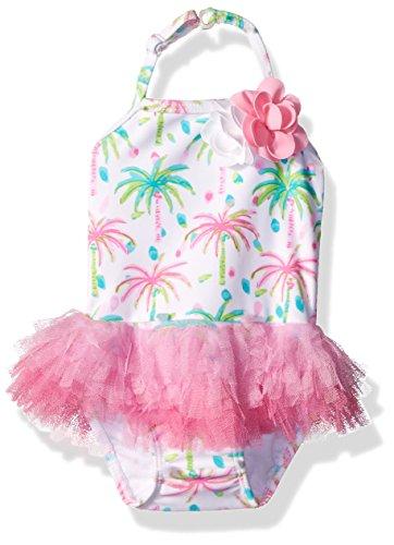 Kate Mack Girls' Island Hopping Skirted Tank Baby Swimsuit, Multi, 24M