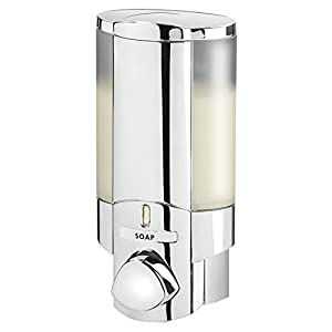Aviva Single Bottle Soap and Shower Dispenser, Chrome