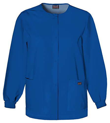 Cherokee Women's Snap Front Warm-Up Jacket_Galaxy Blue_XXX-Large,4350
