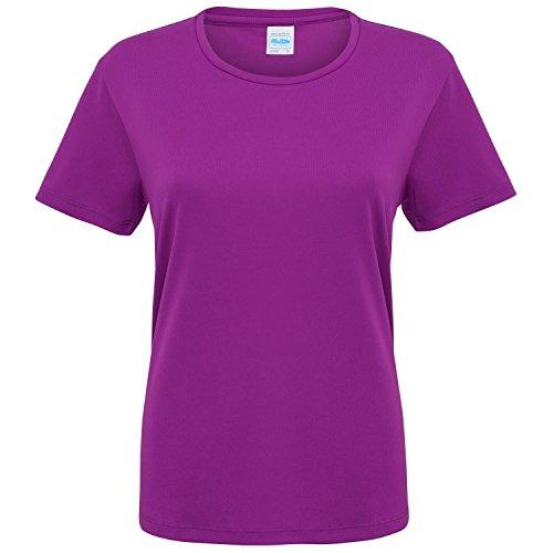 - Just Cool Womens/Ladies Sports Plain T-Shirt (L (US 10)) (Magenta Magic)