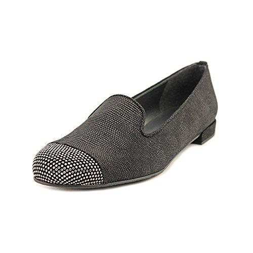 (Stuart Weitzman Women's Lingo Suede Loafers Shoes Black Nubuc 7M)