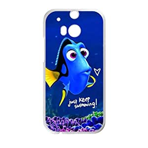 Turtle Rock blue lovely fish Cell Phone Case for HTC One M8