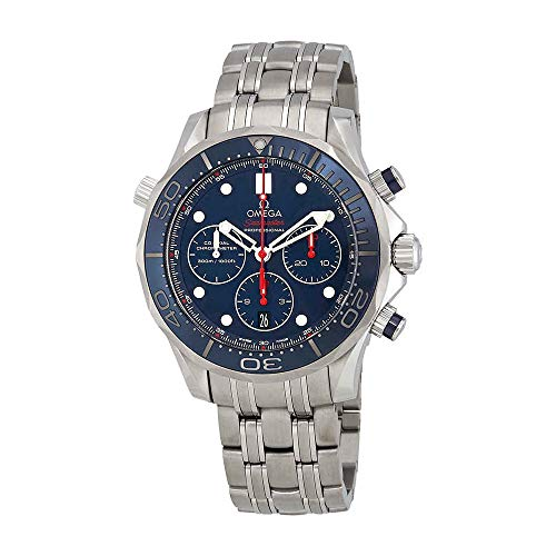 (Omega Men's 21230445003001 Diver 300 M Co-Axial Chronograph Sliver Watch)