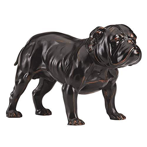 Design Toscano Lord Byrons Bulldog Dog Statue, 8 Inch, Polyresin, Bronze Finish