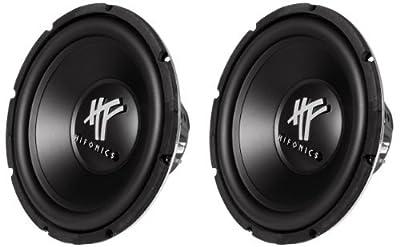 Hifonics HFX12D4 12-Inch 1600 Watt HF Series Dual 4 Ohm Car Subwoofers, Pair of 2 from HIFONICS