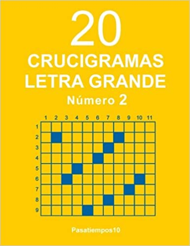 20 Crucigramas Letra Grande - N. 2  Volume 2  Amazon.es  Pasatiempos10   Libros f3c8d37518b