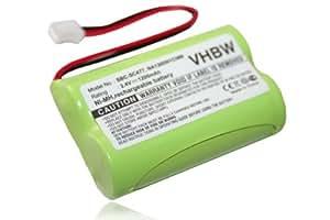 Batería NI-MH 1200mAh 2.4V compatible PHILIPS Babyfon Babyphone SBC-SC466, SBC-S477, SBC-SC477, SBC-S484, SBC-SC484, SBC-SC487 sutituye NA120D01C089