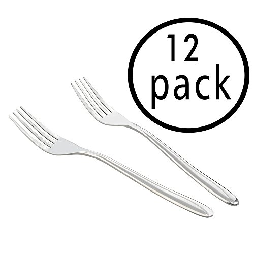Anbers 12 Pieces Stainless Steel Dessert Forks Set (Stainless Dessert Fork)
