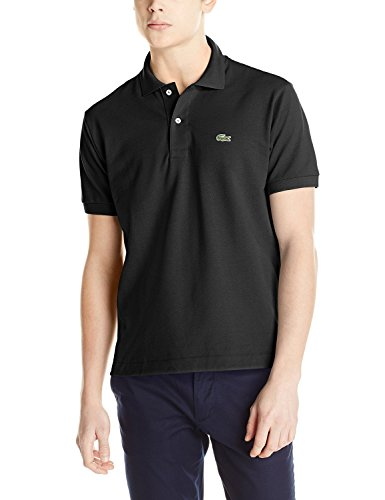 Lacoste Men's Short Sleeve Pique L.12.12 Classic Fit Polo Shirt, Black, 4 from Lacoste