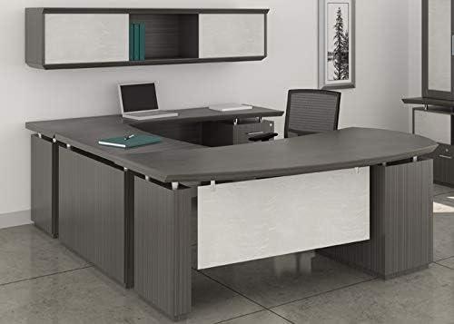 Amazon.com: Modern U-Shaped Executive Desk with Optional ...