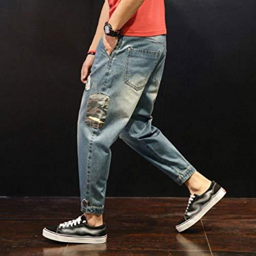 Abiti Jeans Da In Larghi Casual Denim Fit Comode Strappati Pantaloni Stil4 Cono Slim Uomo Con Taglie pUqWpr6RA
