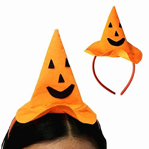 ZCON Halloween Party Pumpkin Hat Hairband Headband Masquerade Fancy Costume Headwear