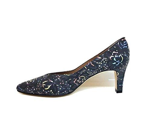Talon multicolore Escarpins Fine Isorbo Chaussures Pointe 6 Gennia Cm Fermée Femmes Noir En Pour Avec Cuir qa8pRx