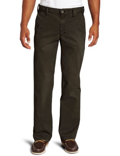 Haggar Men's Life Khaki Sand Washed Straight Fit Chino,Dark Chocolate,30x30 (Washed Down Chino Pants)
