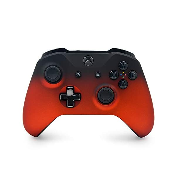 Oxide Red Shadow Custom Wireless Controller for Xbox One Console - Textured Grip - 3.5mm Headset Jack - Chrome Steel… 1