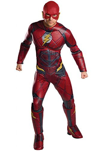Rubie's Justice League Adult Deluxe Flash Costume, -