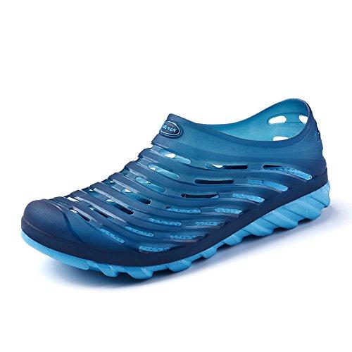 Xing Lin Sandalias De Hombre Los Hombres Del Agujero De Verano Sandalias Zapatos De Hombre De Baotou Nido Transpirable Deslizamiento Sandalias De Viajes De Verano Dark blue