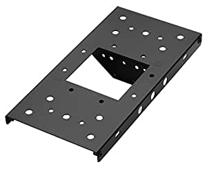 """Architectural Mailboxes 7540B-10 Mailbox Adapter Plate, 4"""" x 4"""", Black"""