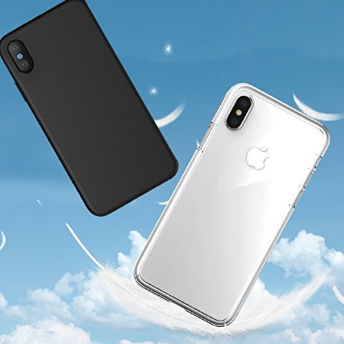 Custodia iPhone X, Acelive 2 morbido protettiva TPU Case Cover Custodia in silicone per Phone X trasparente nero