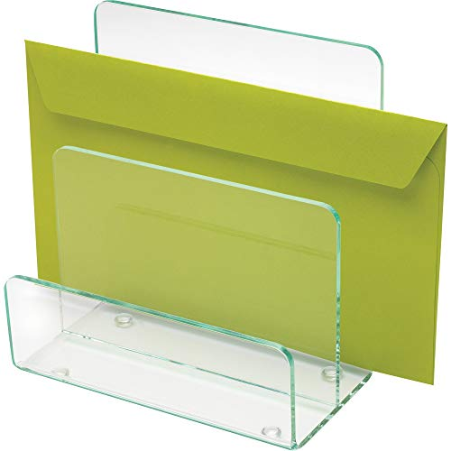 - Lorell 80659 Mini Paper Sorter, 6-Inch x3-1/2-Inch x6-1/2-Inch, Clear/Green