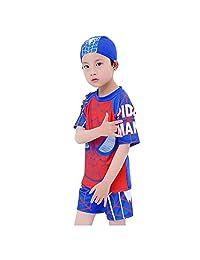 cdb3a6151b Swimsuit Boys,Vishm 3PCS Multi Cartoon Kids Boys Rashguard Swimsuit  Spiderman Pattern Kids Short Sleeve Swimwear Bathing Suit for 3…