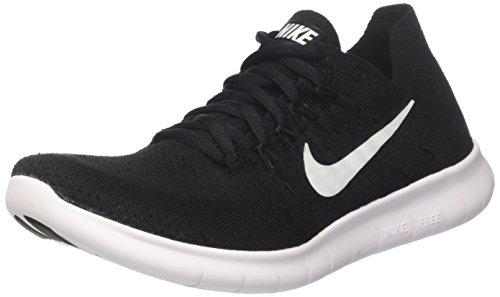 001 black Rn Chaussures Noir black Homme 2017 De Flyknit Nike Running Free white fnqB77