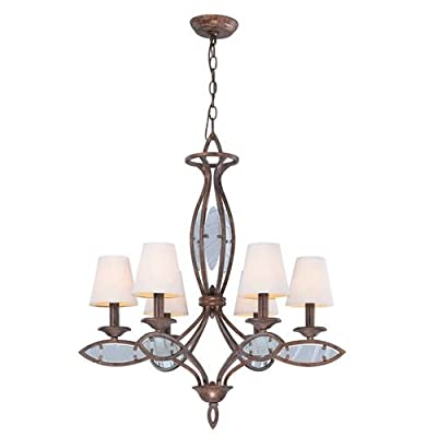 Lite Source LS-19136 6 Light Up Lighting Chandelier from the Damaris Collection,
