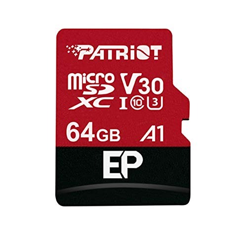 Price comparison product image Patriot Memory 64GB A1 Micro SD Card SDXC for Android Phones and Tablets,  4K Video Recording - PEF64GEP31MCX