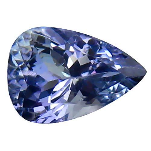(0.96 ct Pear Cut (7 x 5 mm) Tanzanian Bluish Violet Tanzanite Natural Genuine Loose Gemstone )