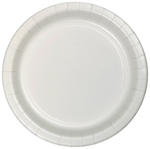 Creative Converting 75-Count Value Pack Paper Dessert Plates, White - 753272B