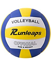 Runleaps Volleyball, Waterproof Indoor Outdoor Volleyball for Beach Game Gym Training (Official Size 5)