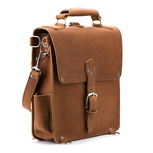 Saddleback Leather Messenger Bag - Leather Vertical Messenger - 100 Year Warranty by Saddleback Leather Co.