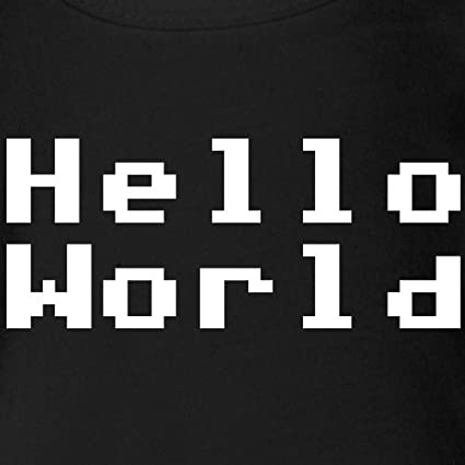Spreadshirt Naissance Geek Hello World Body B/éb/é Bio Manches Courtes