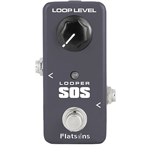 Guitar Loop Pedal, Mini Effects Pedal SOS Looper Sound Processor Portable Accessory for Guitar and Bass by Flatsons