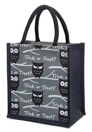 H&B Men's Owl Printed Jute Tote Bags with Zip (Blue, Medium) (B0852QNXHM) Amazon Price History, Amazon Price Tracker