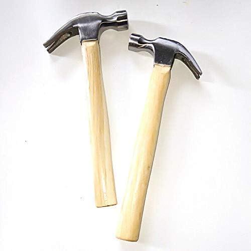 martillo de u/ñas 0,75 kg carpinter/ía bricolaje Martillo de garra construcci/ón martillo angular multifuncional con mango de madera para reparaci/ón del hogar