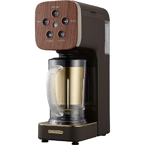 "DOSHISHA Coffee Maker ""SOLUNA Quattro Choice"" QCR-85B-DBR (Dark Wood)【Japan Domestic genuine products】"