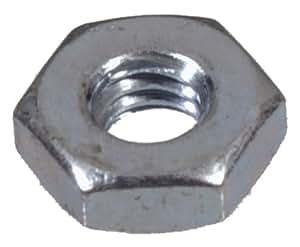 The Hillman Group 140009 Zinc Hex Machine Screw Nut, 4-40, Pack of 100
