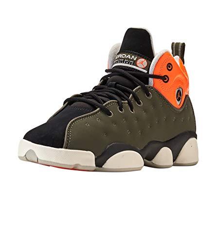 Nike Jordan Jumpman Team II GS 820273-300 Leather Synthetic Youth Trainers - Twilight Marsh Total Orange - 36