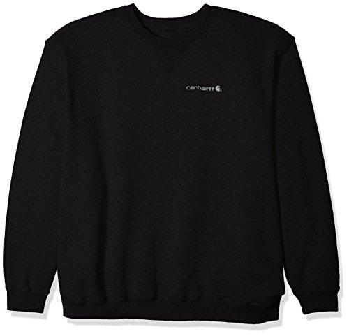 Carhartt Men's Big & Tall Midweight Graphic Crewneck Sweatshirt, Black, 3X-Large ()